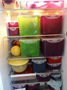 Der Kühlschrank der Rohkostlady