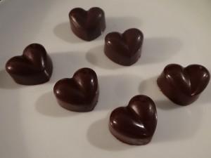 Schokoladenpralinen mit Gojibeeren